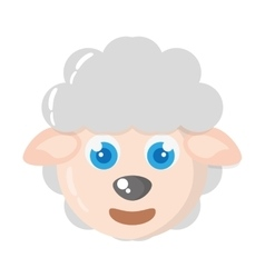 sheep animal farm isolated icon vector image