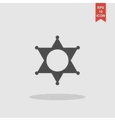 Sheriff star Collection modern trend concept vector image vector image