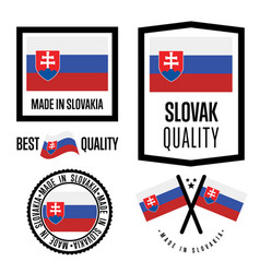 Slovakia quality label set for goods vector