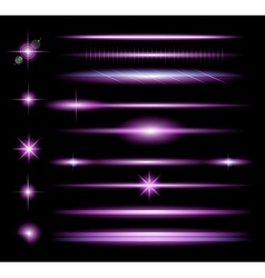 Sparkle Collection with a lot of different Shapes vector image vector image