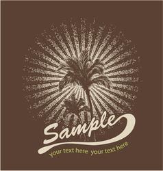 summer t-shirt design vector image vector image