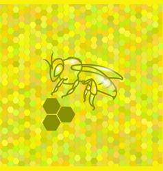 symbol of cute bee vector image