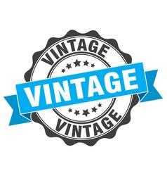 vintage stamp sign seal vector image