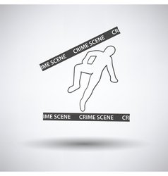 Crime scene icon vector