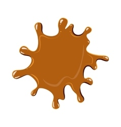 Large puddle of caramel icon vector