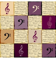 Classical music background vector