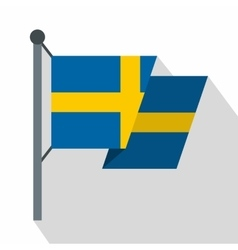 Flag of sweden icon flat style vector
