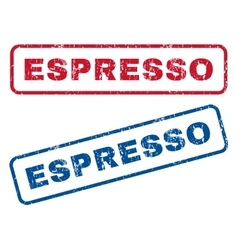 Espresso rubber stamps vector