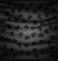 Hearts symbol pattern dark background vector