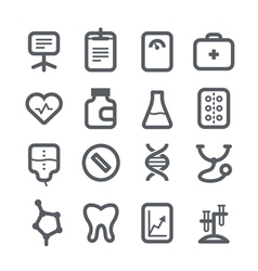 Healthcare icons set vector
