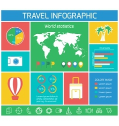 Vacations travel infographics elements vector