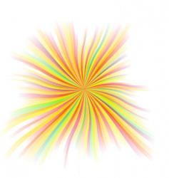 beautiful rays vector image
