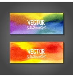 Watercolor banners abstract background vector