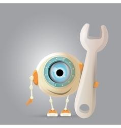 Cartoon character cute robot vector