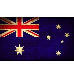 Flags australia with dirty paper texture vector
