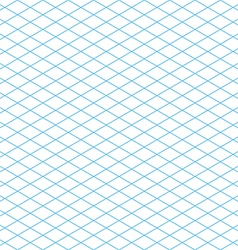 Seamless isometric grid pattern vector