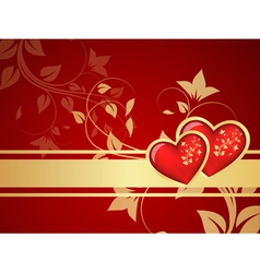 Red valentine background vector