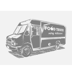 Painted food truck on a white background vector image
