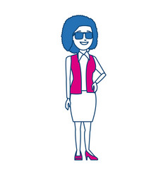 Business woman manager standing gesture vector