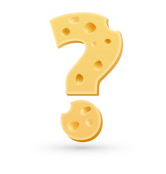 Cheese question mark Symbol isolated on white vector image vector image