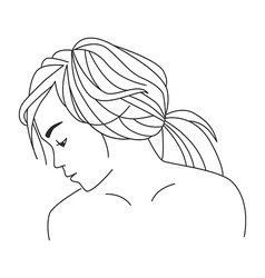 Contour of girl vector image