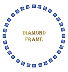 Diamonds round frame vector
