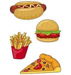 Fast food collection vector image