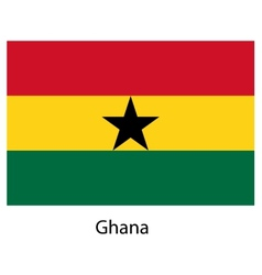 Flag of the country ghana vector image