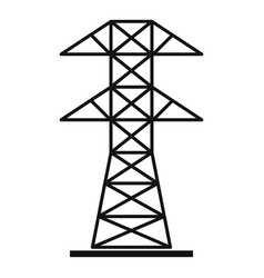 High voltage tower icon simple style vector
