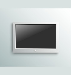 Led tv hanging monitor on the wall background vector image