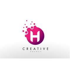 letter h logo h letter design vector image vector image