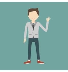 Man Gesturing OK vector image