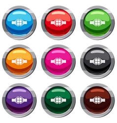 Modern smart watch set 9 collection vector