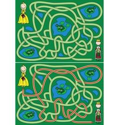 Princess maze vector image