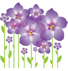 purple abstract flowers vector image vector image