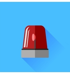 Red siren icon vector