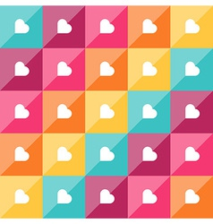 Seamless diagonal pattern with white hearts vector image
