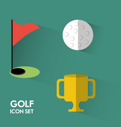 Set concept icon golf sport vector