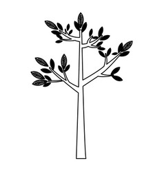 silhouette trees icon stock vector image