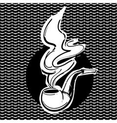 Smoking pipe vector