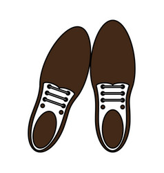 Tied shoes icon image vector