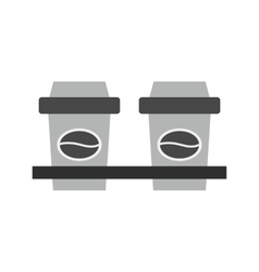 Two Coffees vector image vector image