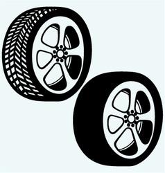 Tyre wheels automobile vector