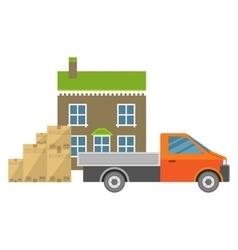 Unique car carrying goods vector