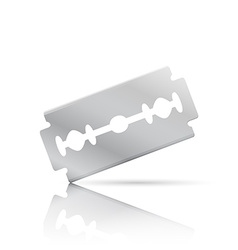 Realistic razor blade front view vector