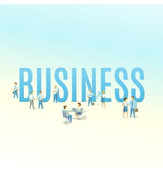 Business typography concept vector image