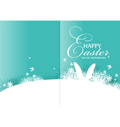 Brochure rabbit ears sticking out of the grass vector