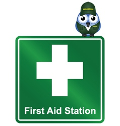 Sign first aid vector