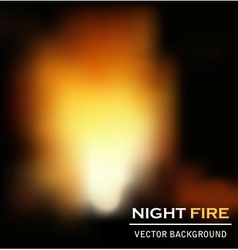 Night fire background vector