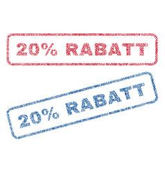 20 percent rabatt textile stamps vector image